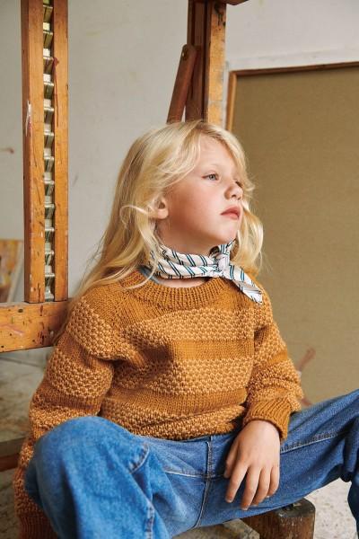 Honning-Pullover 2107-5 Strick-Set (SANDNES)