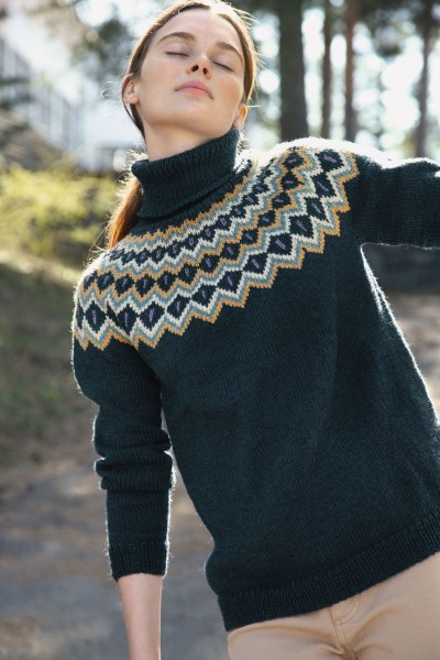 Gyda-Pullover 2010-5 - Strick-Set (SANDNES)