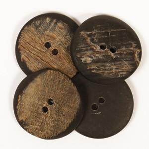 Büffelhornknöpfe 25mm (kantig)