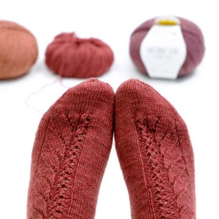 Socken Nr. 01 - Garnpaket (rosa p.)