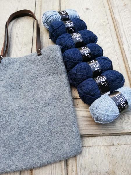 Alaska: eine gestrick-filzte Tasche - Strick-Set (die Strickerin)