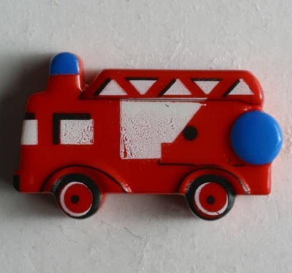 Feuerwehrauto Ösenknopf