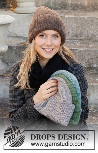 Winter Smiles Hat 214-67 - Strick-Set (DROPS Design)