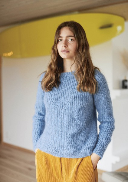 Tulpenpullover - Strick-Set (SANDNES)