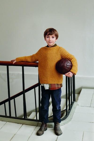 Gustav Pullover (2 bis 12 Jahre) 2003-4 - Strick-Set (SANDNES)