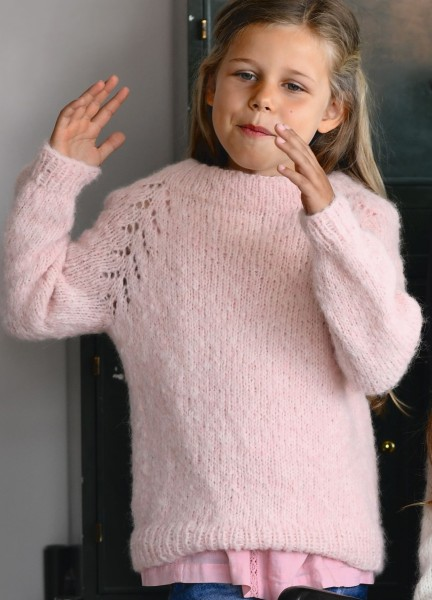 Julia Pullover - Kinder Strick-Set (SANDNES)