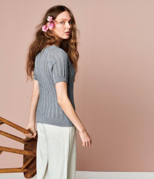 Lavendel T-Shirt 2104-6 - Strick-Set (SANDNES)