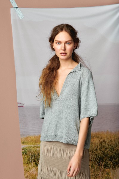 Kamille T-Shirt 2104-5 - Strick-Set (SANDNES)