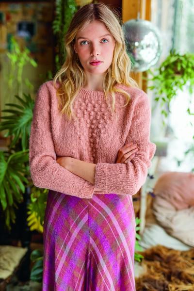 Blumenknospen Pullover - Strick-Set (SANDNES)