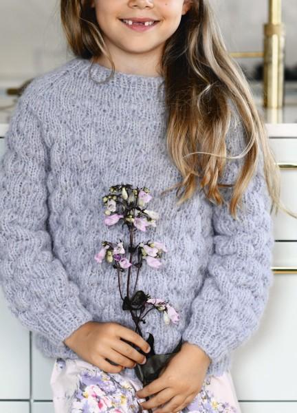 Noppen-Pullover - Kinder Strick-Set (SANDNES)
