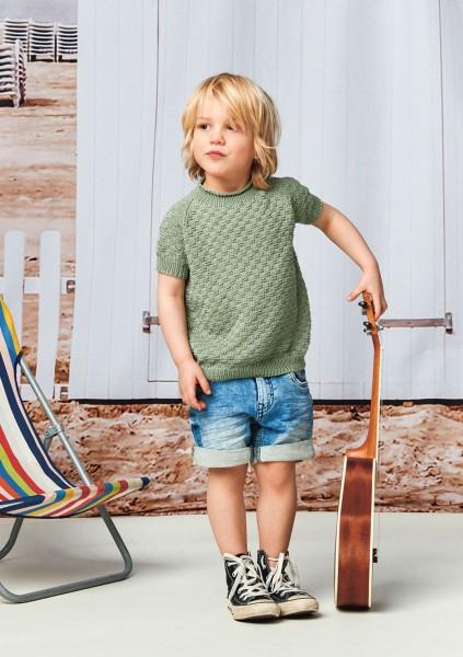 Lille Rille T-Shirt 2105-5 Strick-Set (SANDNES)