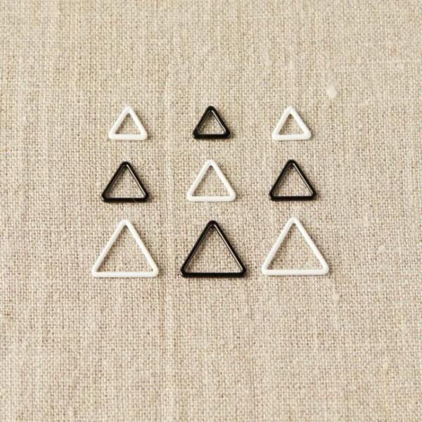 Cocoknits Triangel Maschenmarkierer Schwarz/Weiß