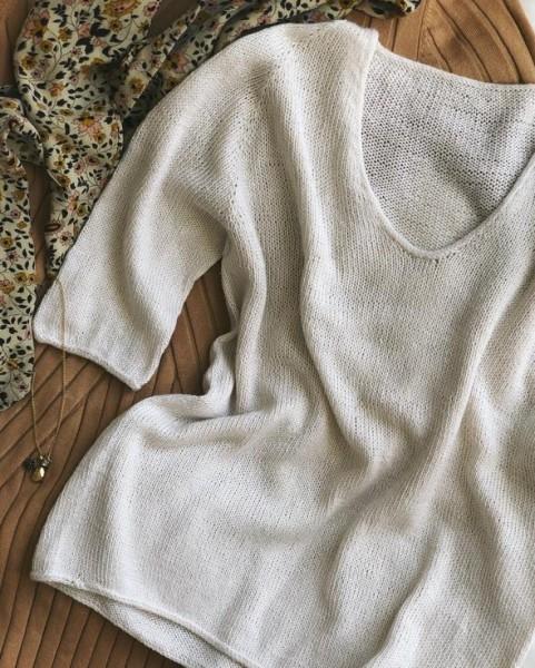 Sommerliche Kumulus-Bluse - Garnpaket (PetiteKnit)