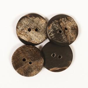 Büffelhornknöpfe 20mm (kantig)